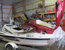 PRO Marine works on jet skis as well as boats
